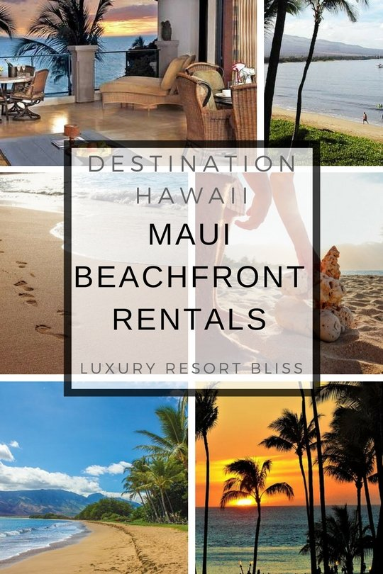 Maui Beachfront Vacation Rentals