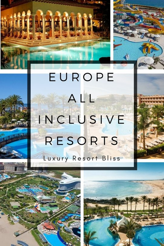 Luxury holiday destinations europe