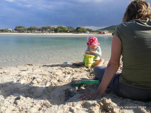 Kid friendly beach on the Tweed Coast