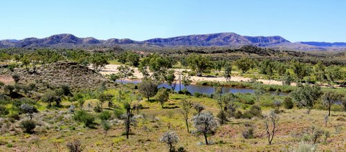 Finke River and MacDonnell Ranges Georgie Sharp