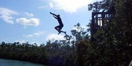 Jumping at Captain Bills smallhope.com
