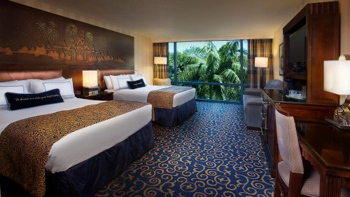 Guest rooms at Disneyland Hotel