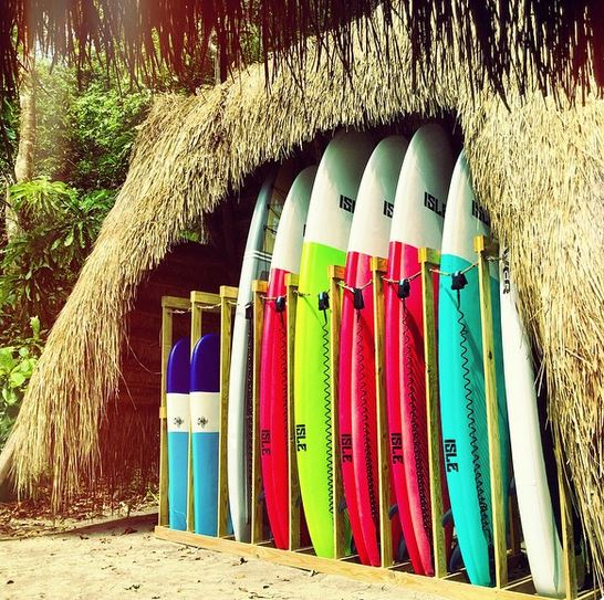 Activities - paddle boards - at Isla Palenque