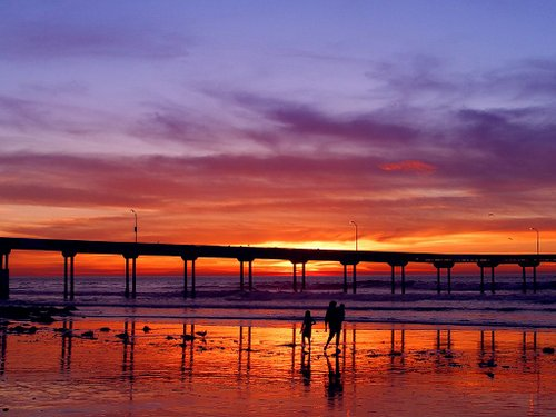 The Ocean Beach Pier at sunset
