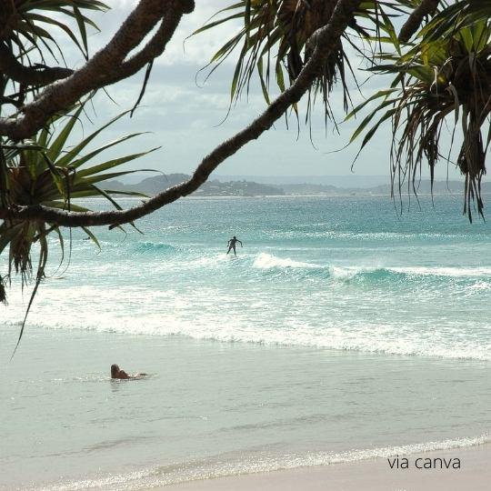 Surfing by Rainbow Beach Resort