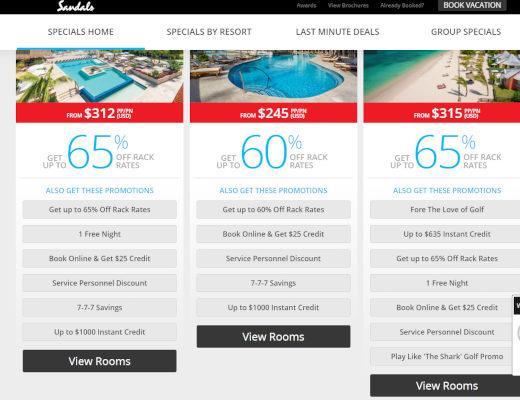 Sandals Resorts Deals