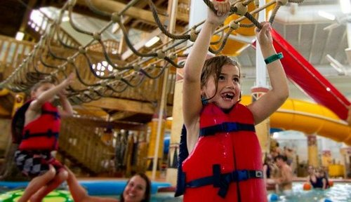 Fun at the water park, Kalahari Resorts, Sandusky, Ohio
