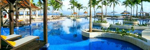 A photo of the pool at Hyatt Ziva Rose Hall All Inclusive Resort