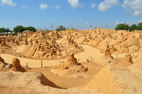 Sand Sculptures at an Algarve beach.