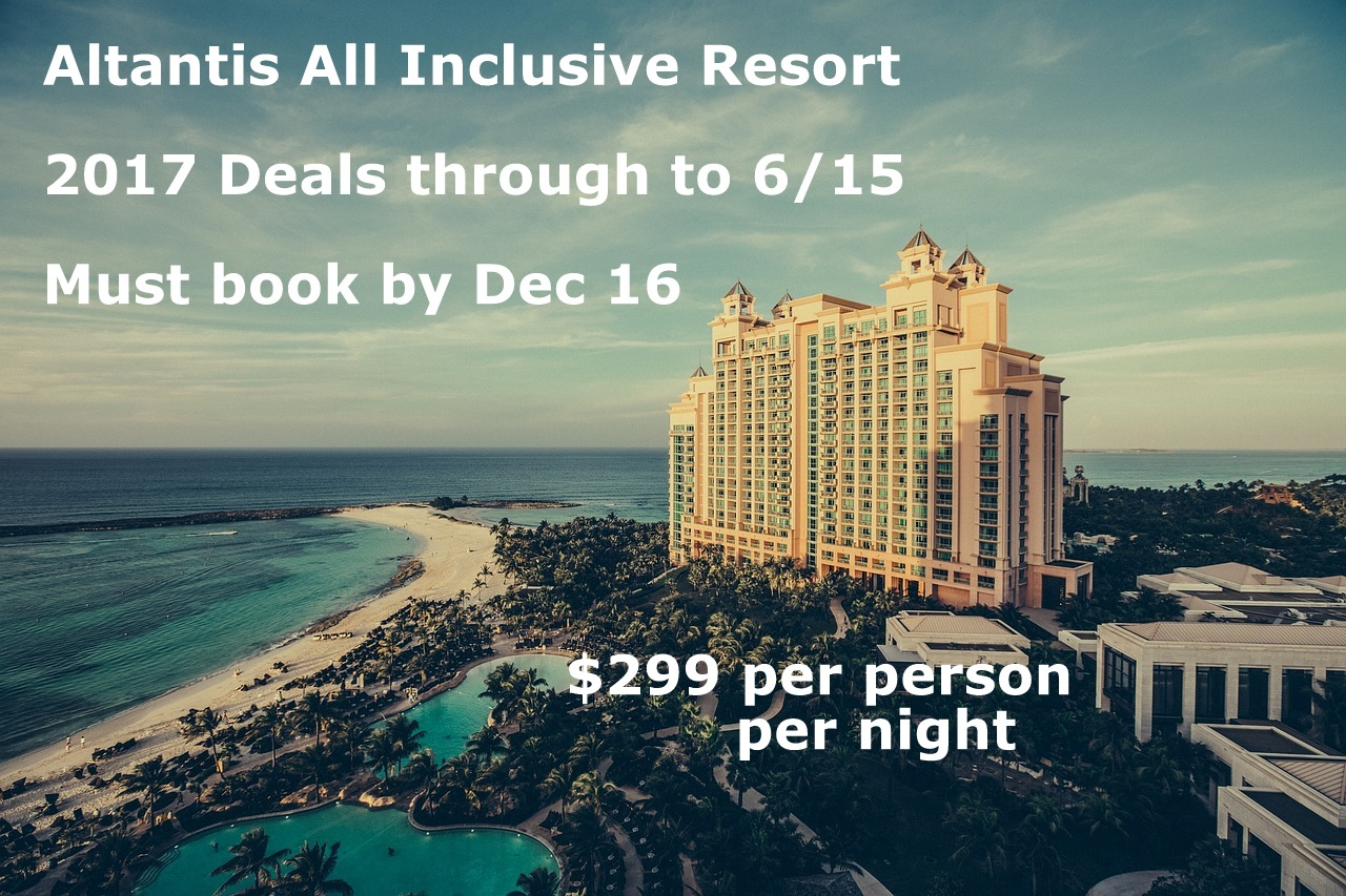 Atlantis Bahamas travel deal