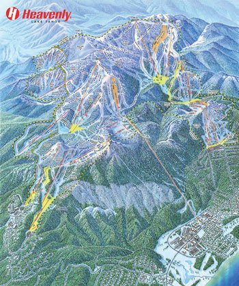 Trail Maps at Heavenly Ski Resort