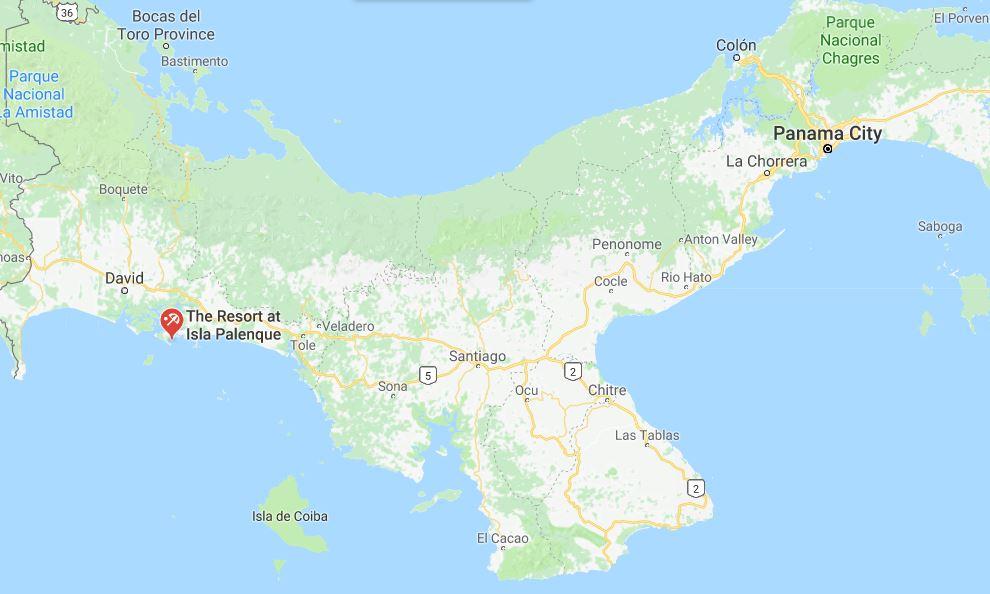 Map of Isla Panama