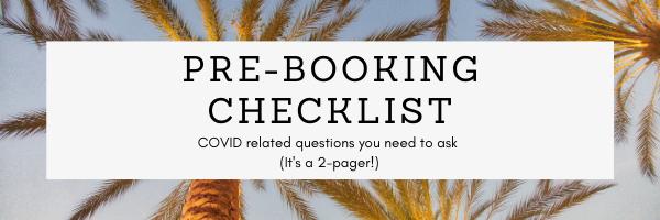 Pre-Booking Checklist for COVID